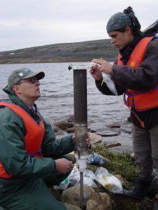 Field sampling Southampton Island (Nunavut)_R Pienitz